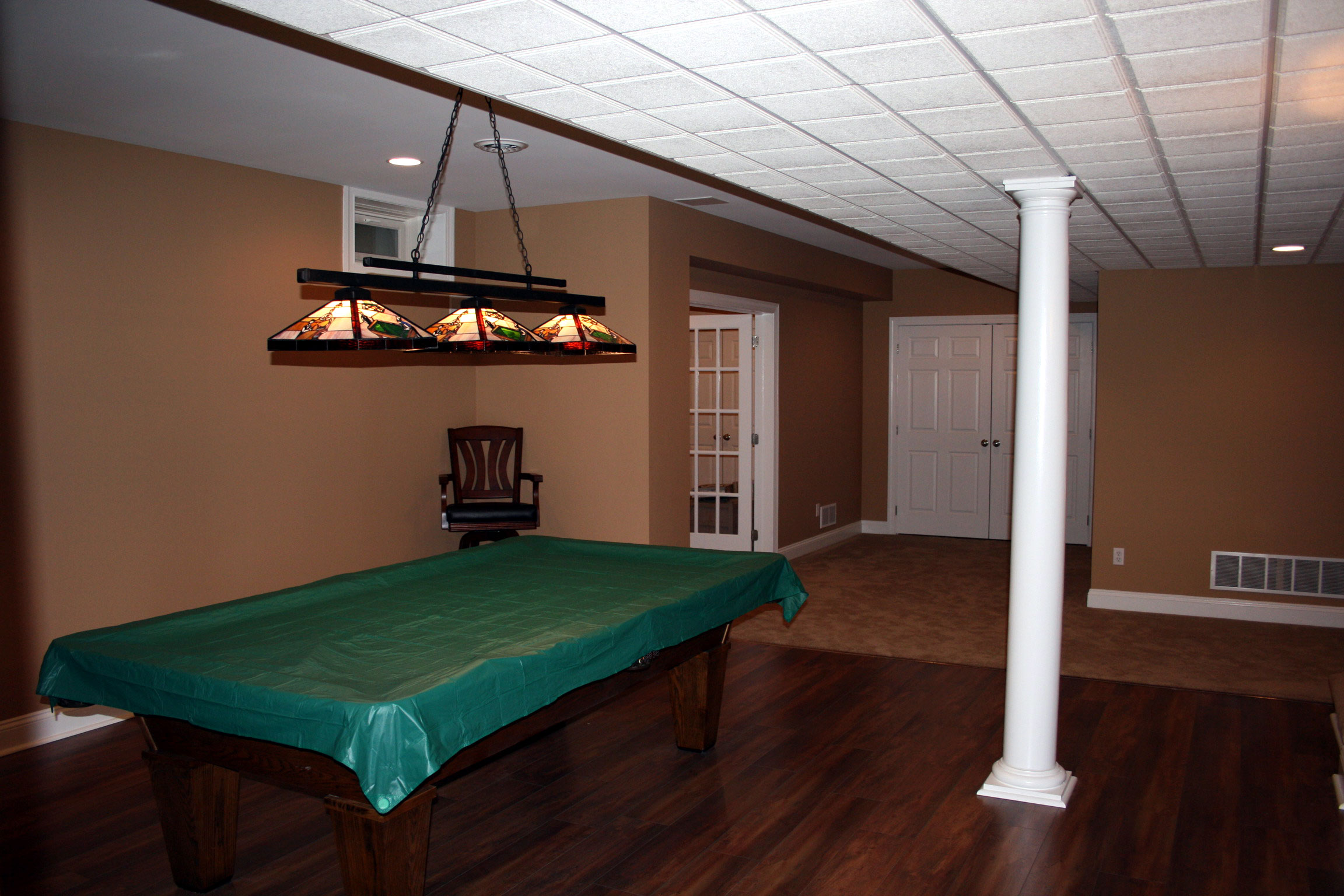basement pool room features